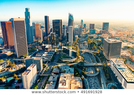 Los Angeles edifício urbano financiar tráfego Foto stock © meinzahn