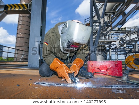 welder at work at the famous industry site in neuenkirchen stock photo © meinzahn