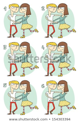 Match Pairs Visual Game: Romance Stock photo © VOOK