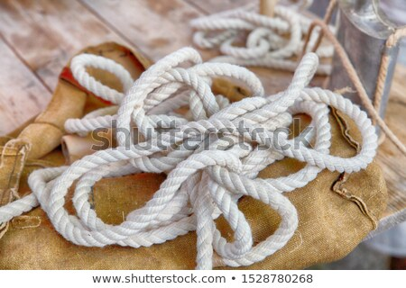 Yacht Canvas Lashing Stock photo © fouroaks