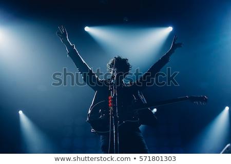 rock · star · śpiewu · etapie · młodych · światła · muzyki - zdjęcia stock © stokkete