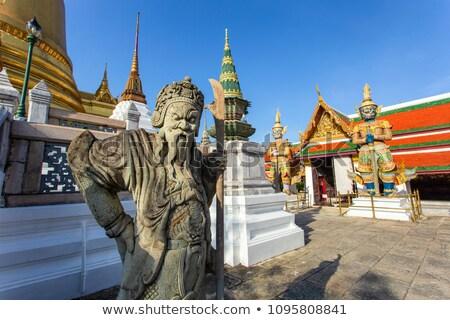 demon · Bangkok · standbeeld · reus · hemel · architectuur - stockfoto © kiddaikiddee