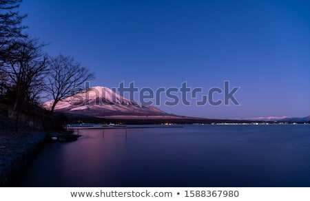 World Heritage Mount Fuji at very early morning Stock photo © shihina