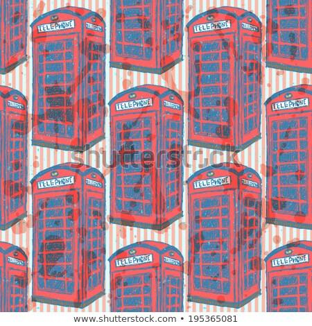 sketch london phone cabin vector seamless pattern stock photo © kali