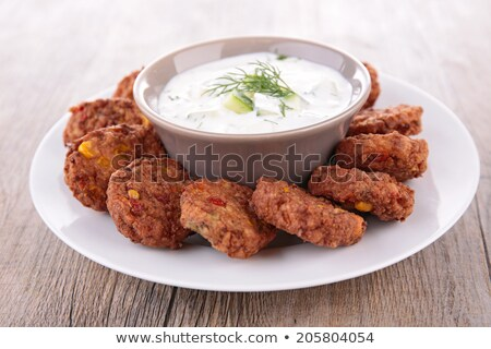 yogurt sauce and falafel Stock photo © M-studio