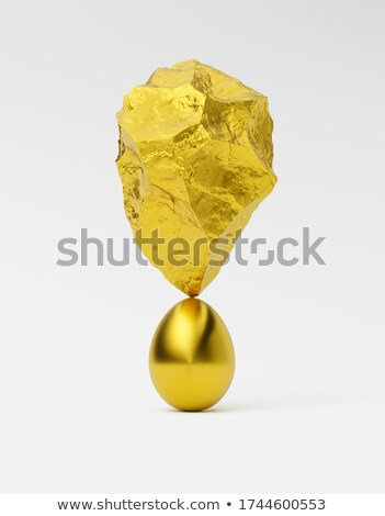 Stock fotó: Abstract Golden Surreal Egg