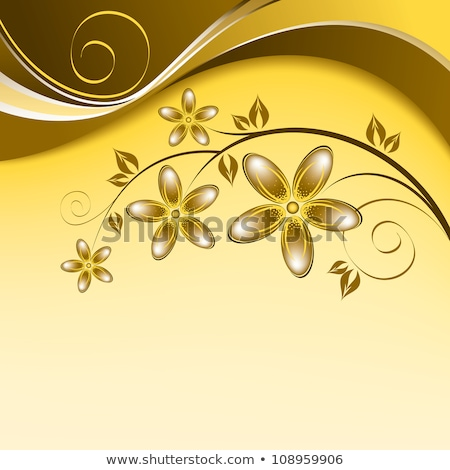 Floral dourado onda vetor projeto arte Foto stock © olgaaltunina
