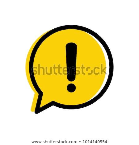 Stock fotó: Figyelem · ikon · fehér · háttér · háló · weboldal