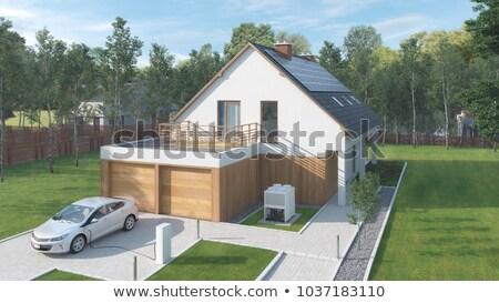 дома 3D генерируется фотография здании домой Сток-фото © flipfine