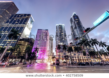 miami downtown by night stock photo © vwalakte