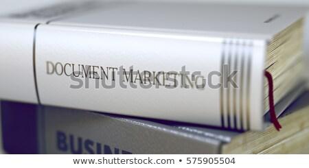 Marketing Costs - Title of Book. Stock photo © tashatuvango
