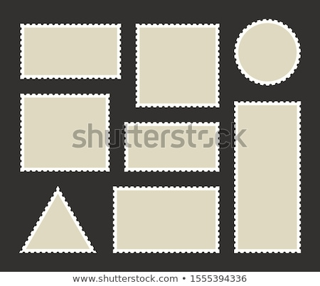 Damga delinme şablon beyaz Stok fotoğraf © nelsonart