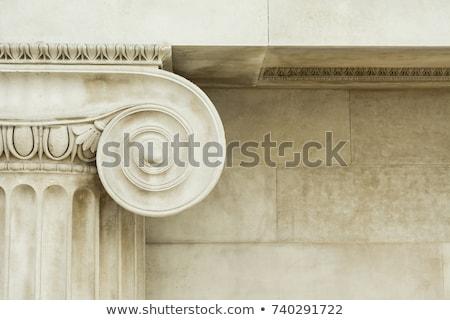 Ionica colonna marmo spirale dettaglio antica Foto d'archivio © sirylok
