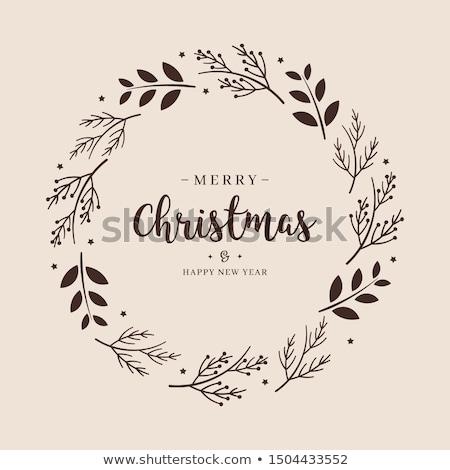 карандашом · рисунок · рождественская · елка · зеленый - Сток-фото © kali