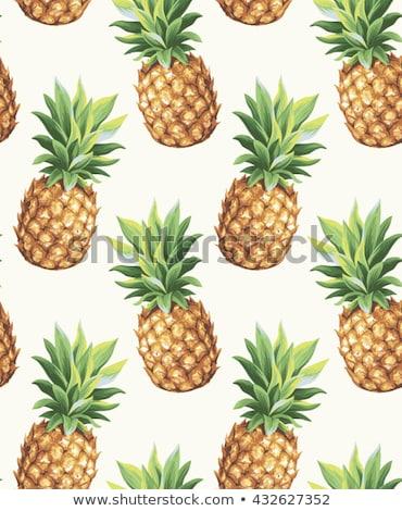 Sem costura fruto padrão ananás natureza fundo Foto stock © elenapro