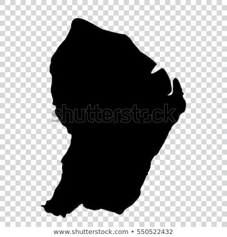 силуэта карта французский знак белый Сток-фото © mayboro