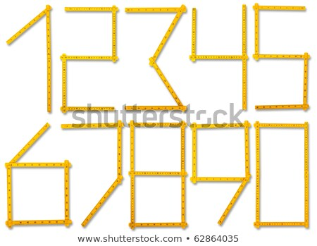 Carpenter's rule with centimeters numbers, isolated over white Stock photo © michaklootwijk