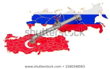 Alto pipes válvula conexão russo bandeira Foto stock © blotty