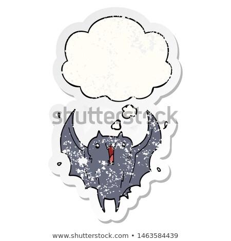 Cartoon excitado vampiro burbuja de pensamiento mano hombre Foto stock © lineartestpilot
