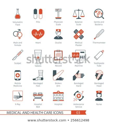 orvosi · ikon · szett · egészségügy · háló · nővér · női - stock fotó © Genestro