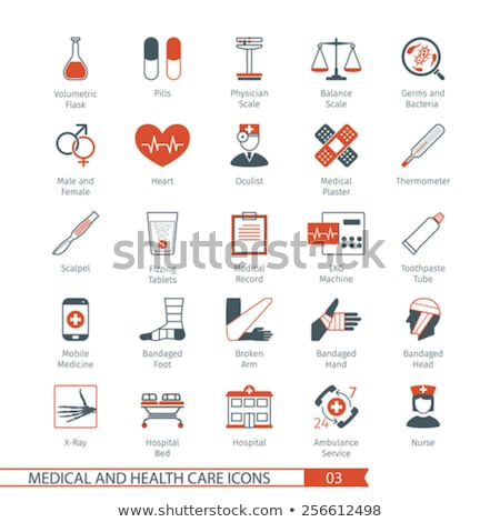 médico · bisturi · mão · branco · isolado · hospital - foto stock © genestro