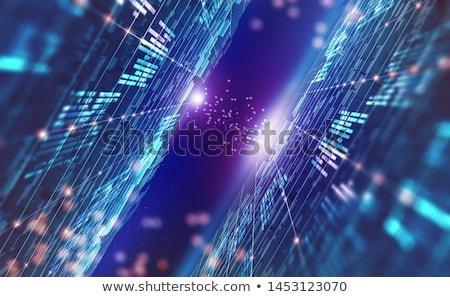 Protetta globale rete internet 3D immagine Foto d'archivio © ISerg