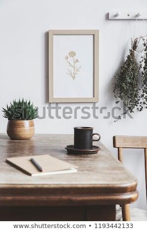 木材 シェルフ フォトフレーム eps 10 テクスチャ ストックフォト © HelenStock