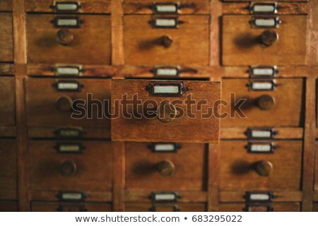 Old archive with wooden drawer Stock photo © Valeriy