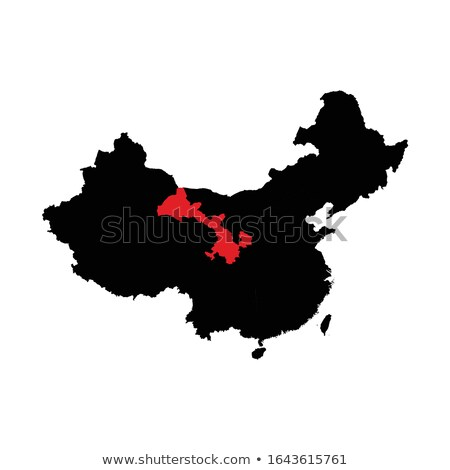 Map of People's Republic of China - Gansu province Stock photo © Istanbul2009
