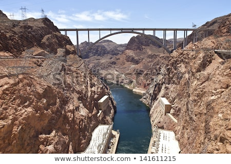 Connecting two states Hoover Dam bridge. Stock photo © Rigucci