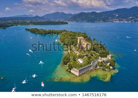 Bella vecchio villa lago di garda Italia Foto d'archivio © master1305