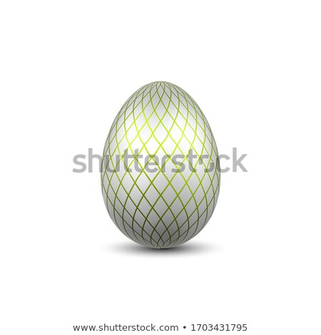 realistico · 3D · argento · uovo · isolato · bianco - foto d'archivio © ZARost
