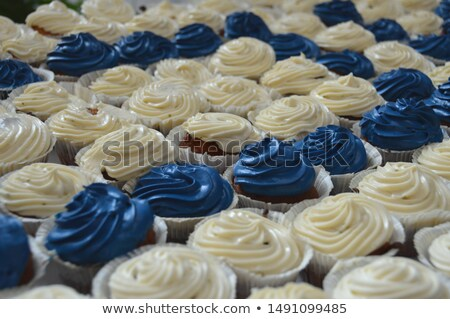 cupcake with blue flag Stock photo © laciatek