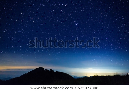 star sky mountains stock photo © romvo
