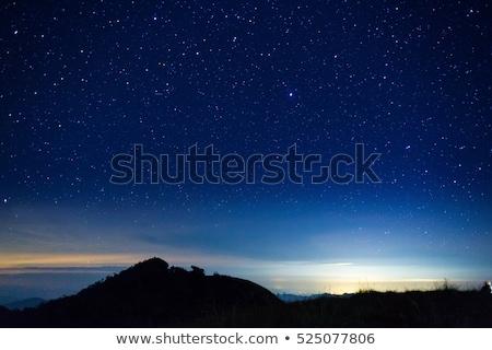 Estrela céu montanhas céu noturno constelação Foto stock © romvo