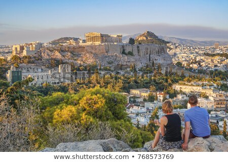 Street of Athens with tourists Stock photo © AndreyKr