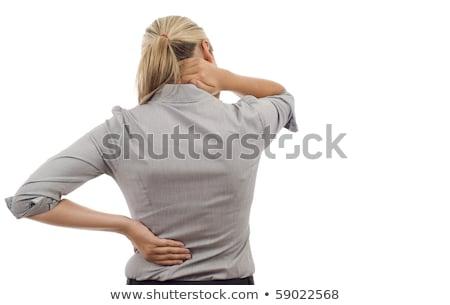 vrouw · pijn · Maakt · een · reservekopie · geïsoleerd · witte - stockfoto © Nobilior