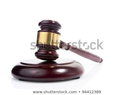 Wooden justice gavel and block with brass Stock photo © ozaiachin