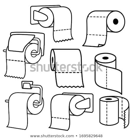 toilet paper holder vector illustration Stock photo © konturvid