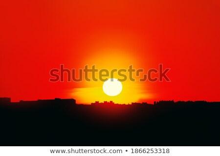 Sunrise over sundial Stock photo © amok