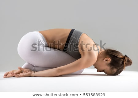yoga pose  shashankasana stock photo © shawlinmohd