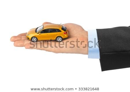 kobieta · zabawki · samochodu · ruchu · osoby - zdjęcia stock © kurhan