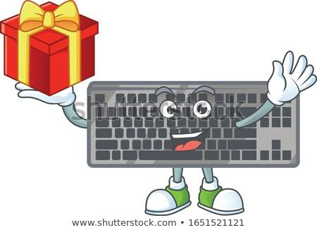 Sajtó gomb bónusz fekete billentyűzet számítógép Stock fotó © tashatuvango