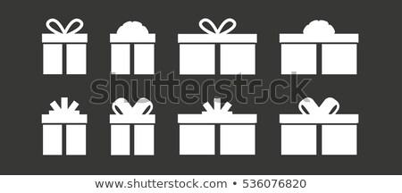 Nő felajánlás karácsony ajándék doboz ünnepek Stock fotó © stevanovicigor