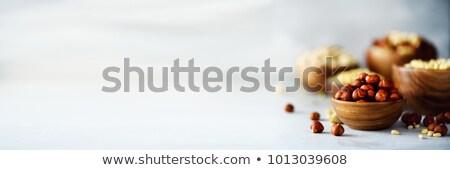 Hazel nuts and nutcracker Stock photo © laky981
