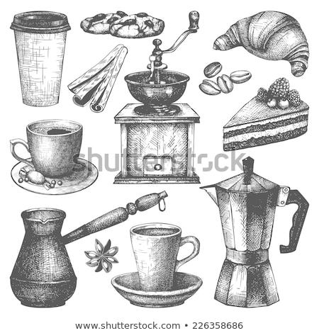vintage · café · textura · comida · projeto - foto stock © mikko