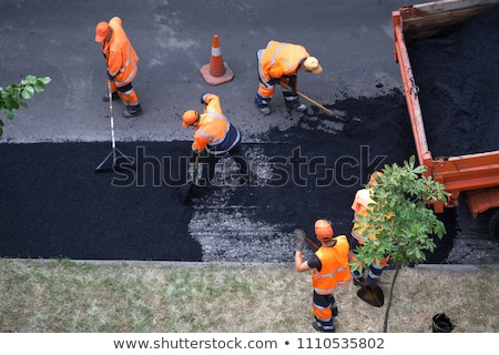 Road Worker Resurfacing Street Stock photo © feverpitch