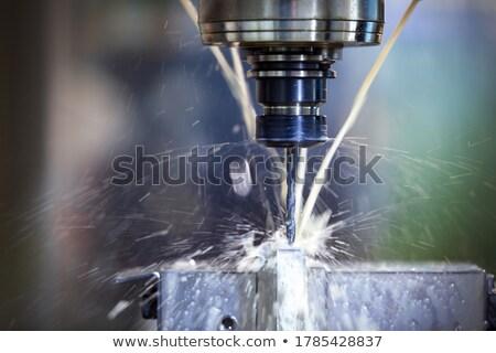 Foto stock: Perforación · foto · metal · industria · industrial