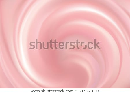 Appetizing custard with sliced strawberry Stock photo © ozgur