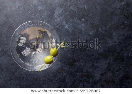 martini · vodka · oliva · enfeite · ouro · brilho · comida - foto stock © 3mc